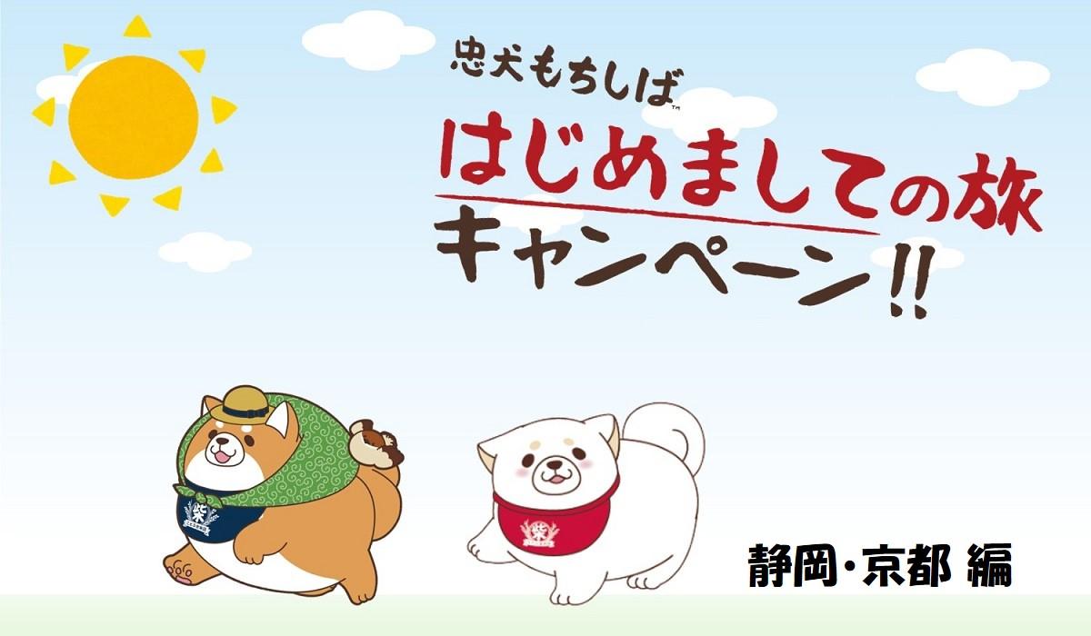 はじめましての旅キャンペーン<br /> 静岡・京都 編【忠犬もちしば】